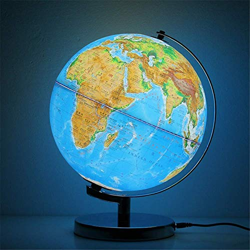 Christmas, Illuminated Geographic World Globe for Kids - 10' Desk Classroom Decorative Globe with Stand, More Than 4000 Names, Places - Current World Globe