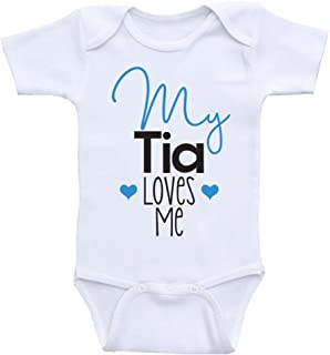 Tia Baby Clothes My Tia Loves Me Cute Baby Clothes One-Piece Bodysuit
