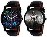 Dial Color: Black, Band Color: Black,Watch Movement Type: Quartz Watch Display Type: Analogue, Dial Shape: Round GIFT : A great choice for the best gift to your Family and Friends Wearabilty : Casual | Look : Designer | Gender : boys & men | Designer...