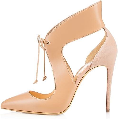 Schuhe Schnürsenkel PfennigsAbsätzen Spitz Stilettos