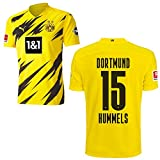 PUMA Borussia Dortmund BVB Heimtrikot 2020 2021 Home Trikot Sponsor BL Logo Kinder Mats Hummels 15 Gr 176