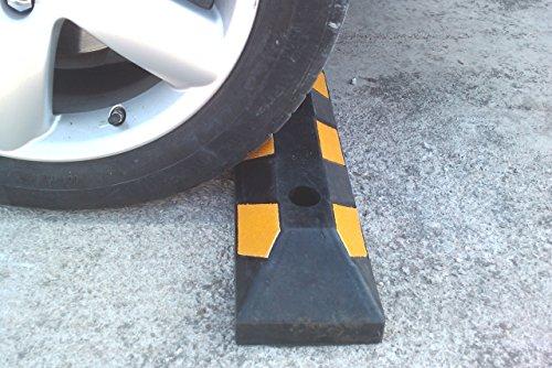 Einzel Gummi Parkplatzbegrenzung für Parkplätze und Garagen 55x15x10cm - 3