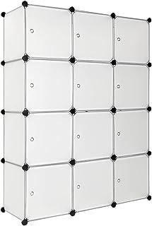 TecTake Estantería de plastico Modular Armario Cuadrados ropero Organizador (Blanco | No. 401577)