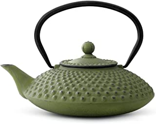 asiatisk tekanna gjutjärn Jing 1,25 l grön noppstruktur