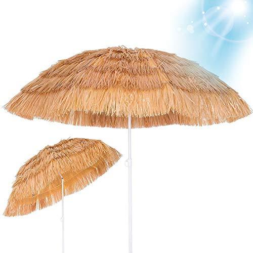 LDJ Parapluie De Parasol De Paille, Parasol De Plage 6ft Style Hawaïen Pare Soleil Peut avec Fonction D'inclinaison, Imperméabilisée, pour Plage Patio Jardin