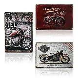 Chapa Metálica de Decoración | Cuadro Moderno Diseño Motocicleta Vintage para...