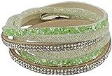 Feelinko Modisches Armband Armkettchen Wickelarmband Armreif Damen Women grün