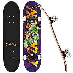 6. NOBONDO Standard 31″ Crazy Dinosaur Skateboard