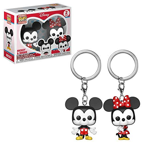 Funko Pop!- Pack llaveros Pocket Pop Disney Mickey Minnie&, Multicolor (36368)