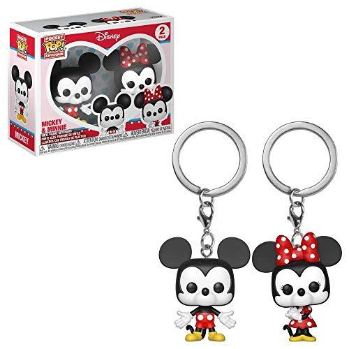 Funko Pop!- Mickey & Friends Pack llaveros Pocket Pop Disney Mickey Minnie&, Multicolor (36368)