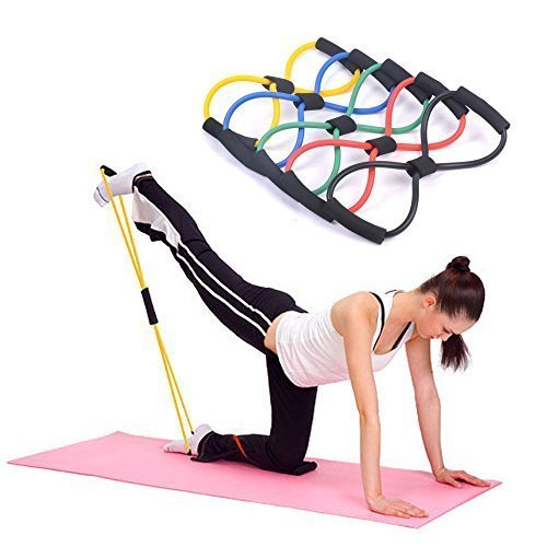 Kasstino 4PCS Useful Fitness Equipment Tube Workout Exercise Elastic Resistance Band for Yoga