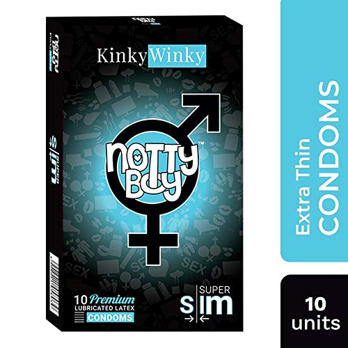 NottyBoy Ultra Thin Sensitive Condoms for Skin to Skin Feeling with Lube - 10ct