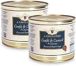 Lot promotionnel de 2 boîtes de Confits de Canard 6 cuisses, recette artisanale du Périgord sans colorants ni conservateurs