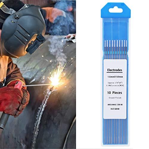 Varilla de electrodo de tungsteno, resistencia 10 piezas aguja de tungsteno de soldadura para aluminio para soldadura de CA de Mg