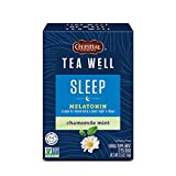 Celestial Seasonings TeaWell Herbal Tea, Sleep with Melatonin, Chamomile Mint, 12 Count (Pack of 6)