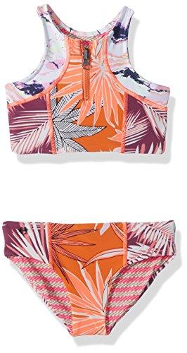Maaji Little Girls Bikini Swimsuit, Bright Orange, 04