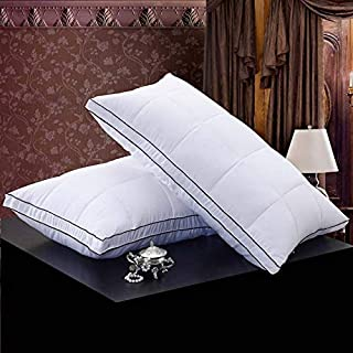 Stephen Decorative Pillows - Piece Rectangle 95% Goose Down+5% Feather Pillow White Color Down-Proof Pillows Bedding Neck Almohada Neck Health 48 * 74cm - by 1 PCs