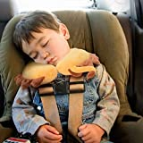 H HOMEWINS Reisekissen Kinder Nackenkissen Niedliche Tierform Nackenhörnchen Kopfstütze Baby Reise Schlafkissen Nackenstützkissen für Zuhause, Reisen im Auto Flugzeug Zug (Löwe) - 6