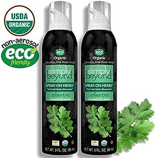 Simply Beyond, Organic Spray-On Herbs, Cilantro, 3 Fl. Oz. (Cilantro, 2 Pack)
