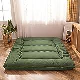 Futon Mattress Twin Size Japanese Floor Mattress, Thicken Tatami Mat Sleeping Pad Roll Up Mattress Guest Mattress Foldable Couch Bed Mattress Pad, Green