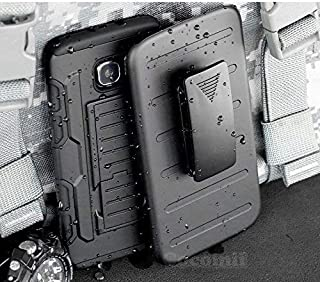 Cocomii Robot Armor Galaxy S6 Case New [Heavy Duty] Premium Belt Clip Holster Kickstand Shockproof Hard Bumper [Military Defender] Full Body Dual Layer Rugged Cover for Samsung Galaxy S6 (R.Black)