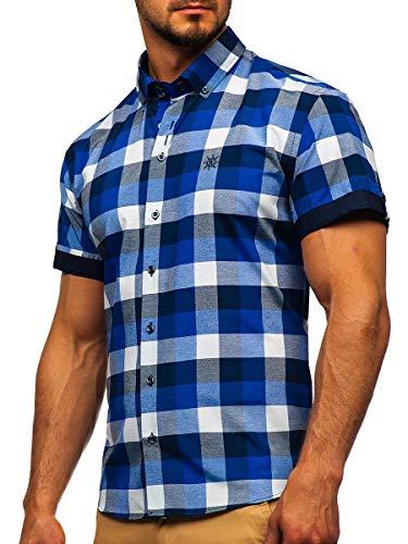 BOLF Hombre Camisa Lisa De Manga Corta 2B2