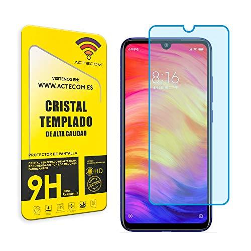 actecom® Protector Pantalla para XIAOMI REDMI Note 7 Cristal Vidrio Templado