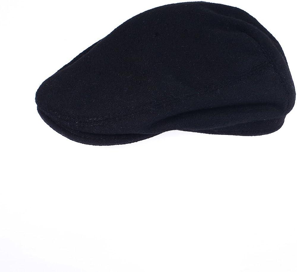 OrlovNY Men's Black Wool Blend Flat trend rank lowest price Winter newsboy Cap Warm
