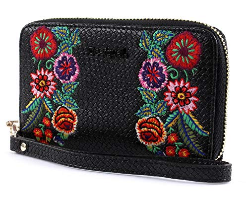 Desigual Mex Mini Zip Medium Portemonnee Negro