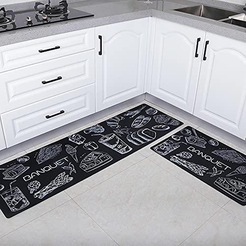 HLXX Alfombras de Cocina Modernas Alfombra Resistente al Agua y al Aceite Alfombras de Piso de Cocina Alfombras Antideslizantes para el Pasillo Entrada Felpudo Dormitorio Footpad A7 40x120cm