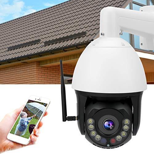 Semiter Cámara de Seguridad, intercomunicador CCTV para Exteriores WiFi 1080P Visión Nocturna a Todo Color Enfoque automático PTZ IP66 Impermeable para el hogar y la Oficina(Transl)
