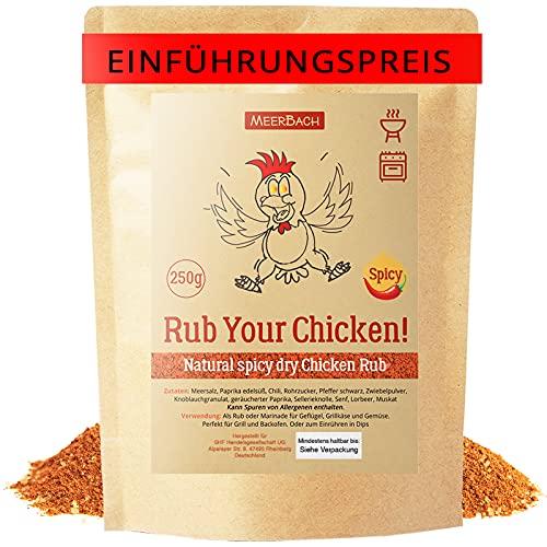 Chicken Rub • Hähnchen Gewürz • 250g Rub your Chicken – Spicy! • Hähnchen Gewürzmischung mit einer gewissen Schärfe zum Grillen, Braten und Marinieren