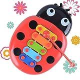 Socialism Golpe de Mano Piano Juguetes educativos Arpa de Mano Boy Girl Musical Baby Toy 8-Note Xilófono para niños de 0-3 años Niño pequeño-Multi-Color