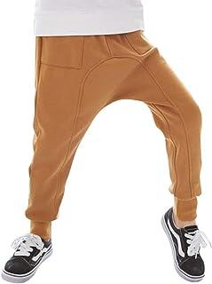 7340fa58461db Yonglan Enfants Garçons Sarouel Pantalons avec 2 Poches Plaquées sur Côtés