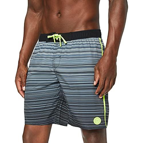 CMP Herren Medium Length Swim Shorts Badeshorts, Black-Grey, 48
