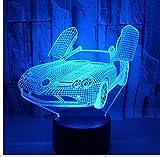 Lyqyzw 3D Led Nachtlicht 7 Farben Licht Für Hauptdekoration Lampe LampenAuto Lava Lampe 3D Led Sensor Kid Licht Usb Tischlampe