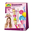 Lena 42375 Handcraft, Complete Dolly and Wooden Crochet Hook, Needle and Thread in 3 Colours, Each 15 metres, Knitting Set for Children from 6 Years