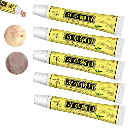 Natural Chinese Herbal Cream Chines Medicine Cream Anti-Itch Cream External Use Only,Dermatitis Inflammation and Rashes (5 pcs)