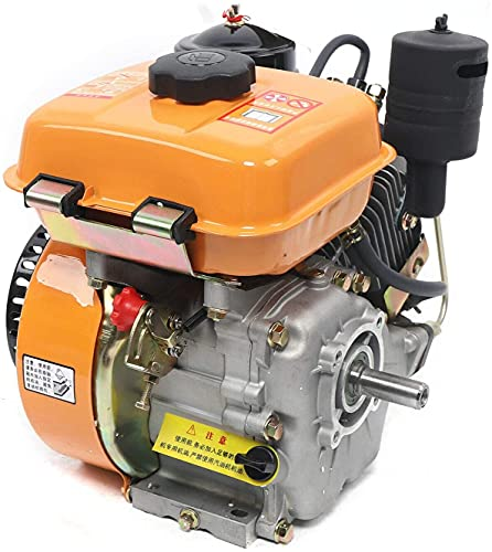 TBVECHI Diesel Engine, 196cc Air-Cooled Diesel Engine, 4 Stroke Single Cylinder Hand Recoil Start System Diesel Engine, 2.2 KW Air Cooling Diesel Engine for Agricultural Machinery