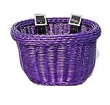 Colorbasket Kids Front Handlebar Bike Basket, Purple