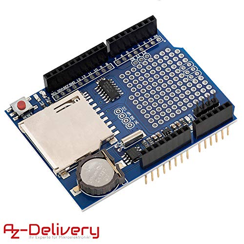 AZDelivery Data Logger Modulo Data Recorder Shield compatible con Arduino con E-Book incluido!