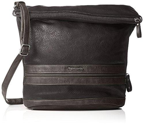 Tamaris Damen Smirne Hobo Bag Schultertasche, Schwarz (Black Comb.), 28x15x28 cm