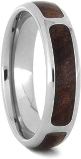 Redwood Partial Inlay 5.5mm Comfort-Fit Titanium Wedding Band