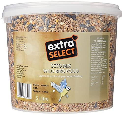 Extra Select Seed Mix Wild Bird Food, 5 Litre