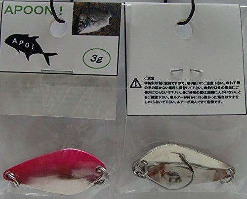 APOON! アポーン! 3g 6カラー (シルバーベース:ピンク)