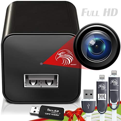 Spy Camera Charger | Hidden Camera | Premium Pack | Mini Spy Camera 1080p | USB Charger Camera | Hidden Spy Camera | Hidden Nanny Cam | Hidden Spy Cam | Hidden Cam | Surveillance Camera Full HD