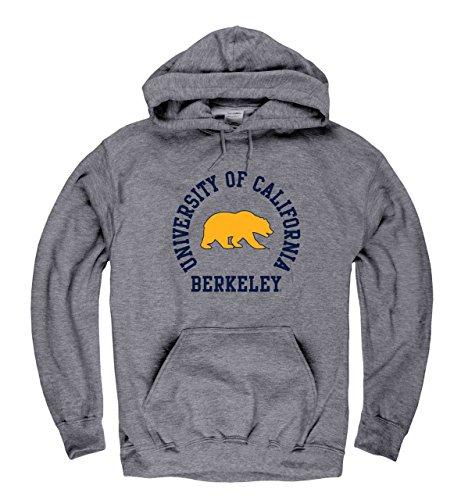 Campus Colors Cal Golden Bears Adult NCAA Team Spirit Hooded Sweatshirt - Graphite, Small