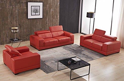 Ledersofa 3+2+1 Sofa Couch Sitzgarnitur Sofas Sitzgruppe 2017-3+2+1-8401