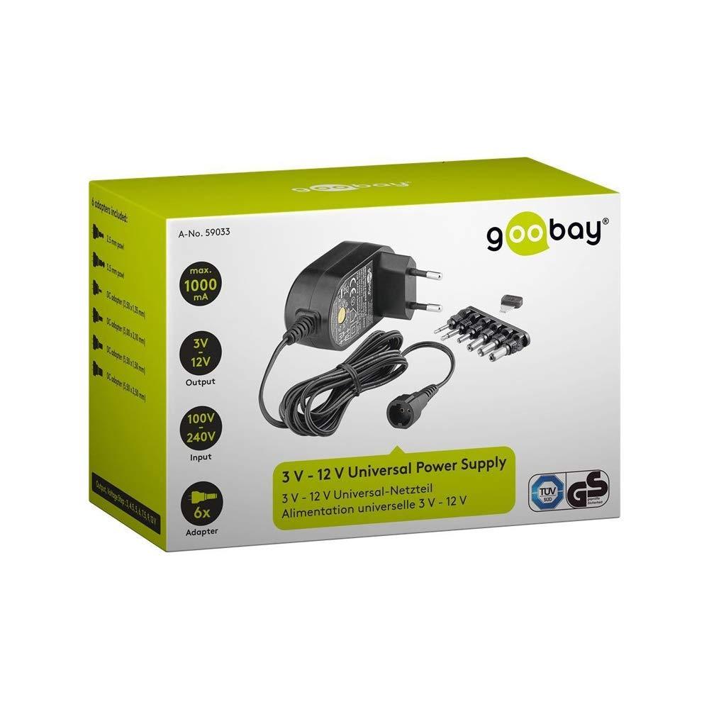 Goobay 59033 3 12v Universal Netzteil Mit Max 12w Computer Zubehör