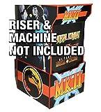 Gulf Coast Decals Arcade1up Cabinet Riser Graphics - Mortal Kombat 2 II Graphic Sticker Decal Set